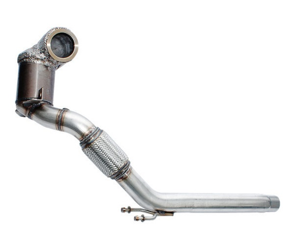 HJS Downpipe 76mm mit Sport-Kat. 200cpsi + 100cpsi für: SKODA Octavia RS - 5E/ 2.0TSI - 180 kW / Euro 6c-Norm
